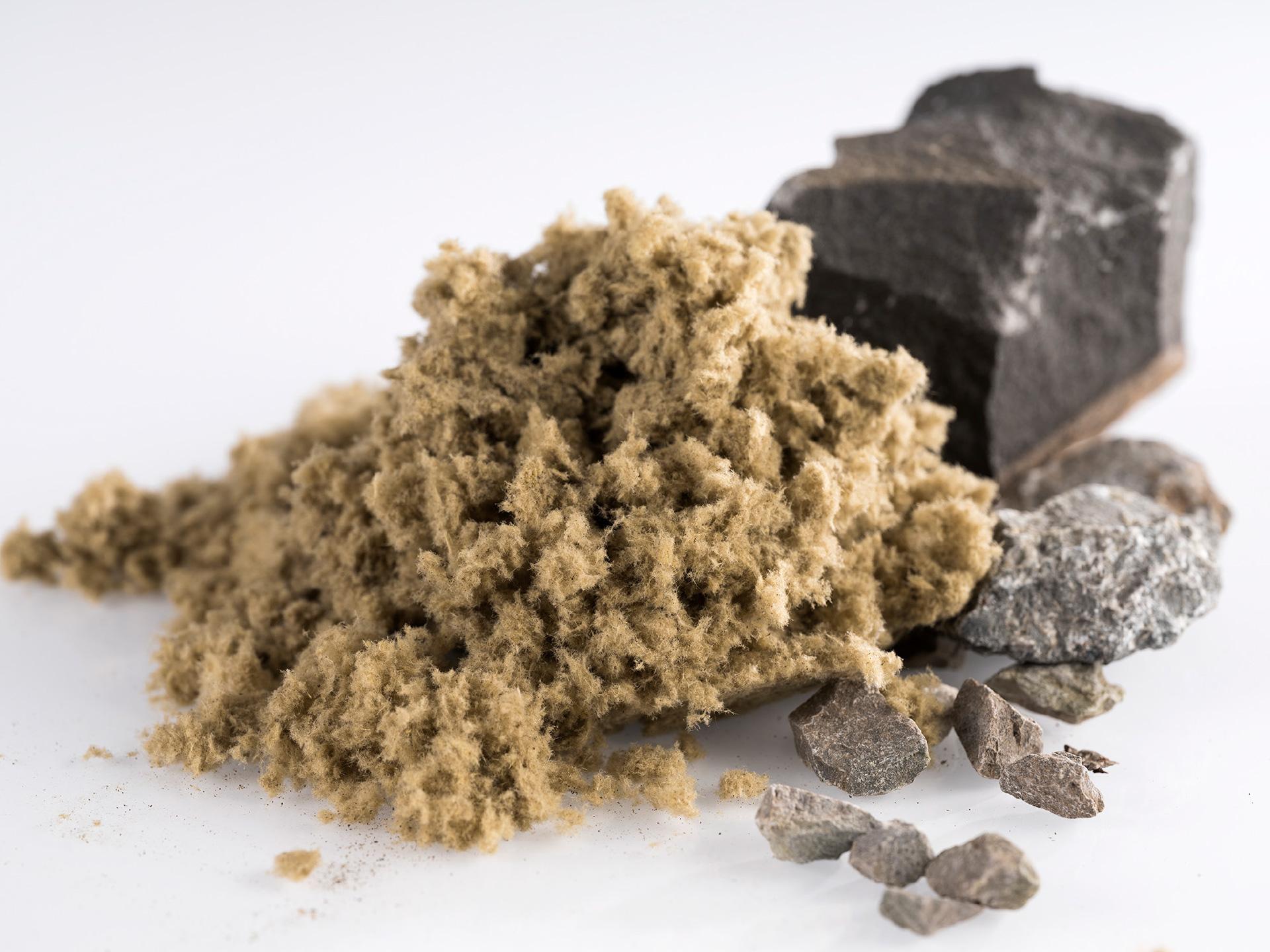 Steinwolle als als Einblasdämmstoff